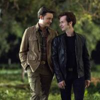 Photo -   This image released by HBO shows Michael McMillian, left, and Denis O'Hare in a scene from