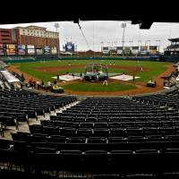 Photo - AT&T Bricktown Ballpark is one of the things that could be attractive to potential Major League Baseball partners for the RedHawks. PHOTO BY CHRIS LANDSBERGER, THE OKLAHOMAN