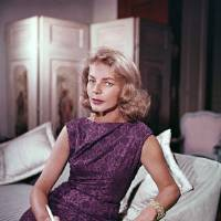 Photo - FILE - This 1965 file photo shows actress Lauren Bacall at her home in New York. Bacall, the sultry-voiced actress and Humphrey Bogart's partner off and on the screen, died Tuesday, Aug. 12, 2014 in New York. She was 89. (AP Photo, File)