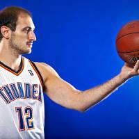 Photo - NBA BASKETBALL TEAM:  NENAD KRSTIC poses for a photo during the Oklahoma City Thunder media day on Monday, Sept. 27, 2010, in Oklahoma City, Okla.   Photo by Chris Landsberger, The Oklahoman ORG XMIT: KOD