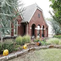 Photo - Chris and Traci Boren's home, a Tudor Revil built in 1926 at 2020 N Indiana Ave., is a stop on the Gatewood home and garden tour, which is from noon to 5 p.m. Sunday.  PAUL B. SOUTHERLAND - The Oklahoman