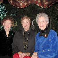 Photo - SPARKLE AND SHIMMER...D'Arline McCubbin, Pat Edwards and Katie Davis were at the seated dinner party that Ann Alspaugh and Jim Vallion had at The Coach House. The invitation read