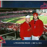 Photo - Craig Box and his son, OU linebacker  Austin Box, took a four-day trip to watch a St. Louis Cardinals baseball game in May and returned less than 24 hours before Austin died after taking a combination of five prescription drugs. His dad said Austin showed no signs of drug use or addiction on the trip.  Photo provided - Photo provided