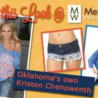 Photo - From Metro Shoe Warehouse, this photo shows Kristin Chenoweth wearing an Oklahoma City Thunder T-shirt from Metro Shoe Warehouse.