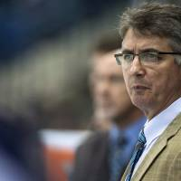 Photo - FILE -  In a Sept. 27, 2013, file photo Winnipeg Jets head coach Claude Noel speaks to his team during the first period of an NHL pre-season hockey game against the Boston Bruins in Saskatoon, Saskatchewan. The Jets have fired Noel and hired Paul Maurice as his replacement.  (AP Photo/The Canadian Press, Liam Richards)