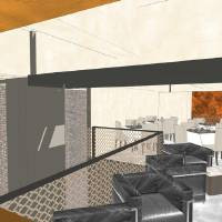 Photo -  The mezzanine dining rooms of the future Broadway 10 Chophouse are shown in this rendering. Drawing provided