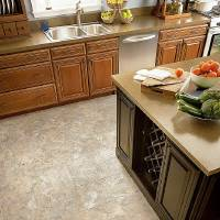 Photo - The look of stone continues to be a design favorite, and Armstrong's Alterna Mesa Stone is designed to be an alternative to ceramic and stone tiles.