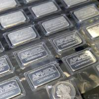 Photo - These 1-ounce silver bars are for sale at the Silver and Gold Exchange at 1715 N Portland in Oklahoma City.  Photo By Paul Hellstern, The Oklahoman