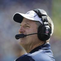 Photo -   Tennessee Titans head coach Mike Munchak watches play against the Indianapolis Colts during the first half of an NFL football game Sunday, Oct. 28, 2012, in Nashville, Tenn. (AP Photo/Mark Humphrey)