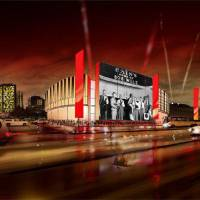 Photo - The Oklahoma Historical Society is planning to establish the Oklahoma Museum of Music and Popular Culture in Tulsa's Brady Arts District and is in talks with Bank of Oklahoma to acquire land for the project. The museum, nicknamed the OK Pop, would feature large exterior LED screens. This configuration represents a possible Bob Wills exhibit; the historical society has been working with the family of the late Western swing music pioneer. Photo provided