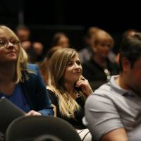 Photo -  Audience members listen to presentations at the first Confluence digital influence conference in Oklahoma City in October 2013. The second Confluence conference will be Sept. 6.    NATE BILLINGS -  NATE BILLINGS