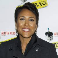 Photo -   FILE - This Dec. 8, 2011 file photo shows ABC News personality Robin Roberts arriving to the opening night performance of the Broadway play