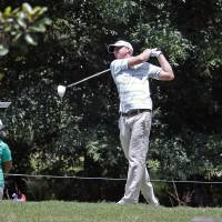 Photo - Vaughn Taylor tees off on the third hole during the second round of the Sanderson Farms Championship golf tournament, Friday, July 19, 2013 in Madison, Miss. (AP Photo/Rogelio V. Solis)
