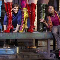 Photo -   In this Oct. 11, 2012 photo provided by Broadway in Chicago, actors Stark Sands, left, and Billy Porter are seen in a preview performance of