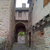 Photo - Narrow streets are typical in the old villages of southern France, such as this one in Conques. Photo courtesy of Fyllis Hockman.