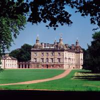 Photo - This photo provided by Museum of Fine Arts, Houston shows Houghton Hall in Norfolk, England. Artwork and furniture from the grand English country house Houghton Hall are going on a U.S. tour.
