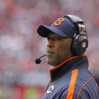 Photo - Chicago Bears head coach Lovie Smith watches his team during the first half of an NFL football game against the Arizona Cardinals, Sunday, Dec. 23, 2012, in Glendale, Ariz. (AP Photo/Rick Scuteri)