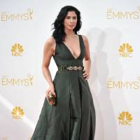 Photo - Sarah Silverman arrives at the 66th Annual Primetime Emmy Awards at the Nokia Theatre L.A. Live on Monday, Aug. 25, 2014, in Los Angeles. (Photo by Richard Shotwell/Invision/AP)