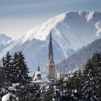 Photo -   The mountain resort of Davos pictured during the last day of the 42nd Annual Meeting of the World Economic Forum, WEF, in Davos, Switzerland, Sunday, Jan. 29, 2012. The overarching theme of the Meeting, that took place from Jan. 25 to Jan. 29 was