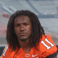 Photo - T.J. Bell, Oklahoma State University (OSU) college football player     ORG XMIT: 0809112150485567