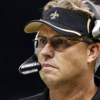 Photo - FILE - In this Sept. 26, 2010, file photo, New Orleans Saints defensive coordinator Gregg Williams appears during an NFL football game against the Atlanta Falcons at Mercedes-Benz Superdome in New Orleans. Former New Orleans coordinator Williams said at an appeals hearing in the Saints bounty case that he tried to shut down the team's pay-for-pain system when the NFL began investigating but was overruled by current Saints head coach Joe Vitt, according to transcripts of the session that were obtained by The Associated Press on Wednesday, Dec. 12, 2012. (AP Photo/Gerald Herbert, File)