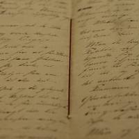 Photo - A newly found manuscript of a fairy tale by Hans Christian Andersen which has been located in Odense, pictured in the State Archives in Copenhagen,  Denmark  Wednesday, Dec. 12, 2012. The story of 'The Tallow Candle' might have been written about 1823, when he was 18 year old. (AP Photo/POLFOTO, Martin Bubandt)  DENMARK OUT