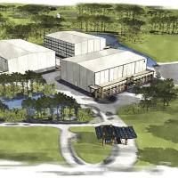 Photo - In this image provided by Pinewood Shepperton PLC, an artist's rendering of Pinewood Atlanta is shown. Pinewood Shepperton PLC and River's Rock LLC together announced a joint venture to be named Pinewood Atlanta, a full service film and entertainment studio complex comprised of five sound stages on 288 acres in Fayetteville, Ga., south of Atlanta. (AP Photo/Pinewood Shepperton PLC)