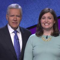 Photo - In this January 2014 photo provided by Jeopardy Productions, Inc., shows Alex Trebek, host of the TV show