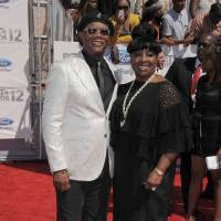 Photo -   Host Samuel L. Jackson, left, and LaTanya Richardson arrive at the BET Awards on Sunday, July 1, 2012, in Los Angeles. (Photo by Jordan Strauss/Invision/AP)