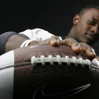 Photo - HIGH SCHOOL FOOTBALL: All State football player Timothy Flanders, Midwest City, in the OPUBCO studio, Wednesday, Dec. 17, 2008. BY NATE BILLINGS ORG XMIT: KOD