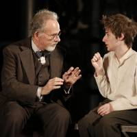 Photo -   This theater image released by The Public Theater shows Ron Rifkin, left, and Noah Robbins in