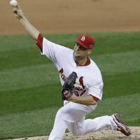 Photo -   St. Louis Cardinals relief pitcher Trevor Rosenthal (64) works during the sixth inning of Game 3 of baseball's National League championship series against the San Francisco Giants, Wednesday, Oct. 17, 2012, in St. Louis. (AP Photo/Patrick Semansky)