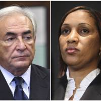 Photo - FILE - This combo made from file photos shows former International Monetary Fund leader Dominique Strauss-Kahn on June 6, 2011, left, and Nafissatou Diallo on July 28, 2011, in New York. Diallo's sexual assault lawsuit against the former IMF leader could wrap up as soon as Monday, Dec. 10, 2012, in a quiet deal. A person familiar with the case tells The Associated Press the court date concerns a possible settlement. (AP File Photos)