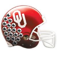 Photo - They're No. 2 GRAPHIC WITH PHOTOS: 1) OU FOOTBALL HELMET / COLLEGE FOOTBALL / UNIVERSITY OF OKLAHOMA / OHIO STATE UNIVERSITY / BUCKEYE STICKERS / GRAPHIC WITH PHOTO: University of Oklahoma Sooner (OU) college football helmet shot at the Switzer Center in Norman, Okla. on Wednesday, Aug. 12, 2009.     Photo Illustration by Steve Sisney, The Oklahoman 2) 	BOOMER: Erik Gransberg, a recent graduate of OU,  will compete later this year in the NCAA mascot of the year contest. He is pictured in his University of Oklahoma Sooners horse mascot costume. Photo taken Monday, Oct. 9, 2006. By  Jim Beckel /The Oklahoman. 3) MASCOT: Ohio State mascot Brutus Buckeye leads a cheer before the  Buckeye's take on Purdue in Big Ten college football action in Columbus, Ohio on Saturday, Oct. 11, 2008. (AP Photo/Amy Sancetta)    PHOTO ILLUSTRATION BY CHRIS SCHOELEN, THE OKLAHOMAN