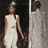 Photo -   Fashion from the Spring 2013 collection of Jenny Packham is modeled on Tuesday, Sept. 11, 2012 in New York. (AP Photo/Bebeto Matthews)