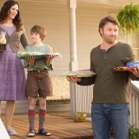 """Photo - From left, Jennifer Garner, CJ Adams and Joel Edgerton star in the Disney family feature """"The Odd Life of Timothy Green."""" Photo provided"""