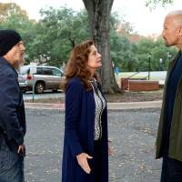Photo - From left, Barry Pepper, Susan Sarandon and Dwayne Johnson appear in a scene from