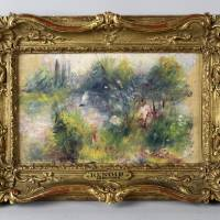 Photo - This image released by Potomack Company shows a painting by French impressionist Pierre-Auguste Renoir. The Renoir painting returns to public display this weekend for the first time in more than 60 years since it was stolen from the Baltimore Museum of Art. Pierre-Auguste Renoir's painting