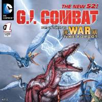 """Photo -   This image provided by DC Comics shows the cover of the first issue of G.I. Combat. More than eight months after upending its classic superheroes and ongoing titles, DC Entertainment is bringing more titles to readers this week, including a contemporary take on its classic war comic """"G.I. Combat."""" The book is one of six new titles hitting shelves Wednesday that include new takes on the Justice Society, """"Dial H For Hero"""" and heroines Power Girl and Huntress, among others. (AP Photo/DC Comics)"""