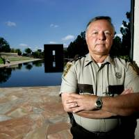 Photo - Noble County Sheriff Charlie Hanger poses for a photo at the Oklahoma City National Memorial and Museum in Oklahoma City, Oklahoma August 28, 2009. Photo by Steve Gooch, The Oklahoman ORG XMIT: KOD