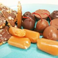 Photo - Alicia Helsley created this assortment of chocolates.  Photo by Steve Gooch, The Oklahoman