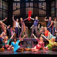 Photo - This theater image released by The O+M Company shows the cast during a performance of the musical