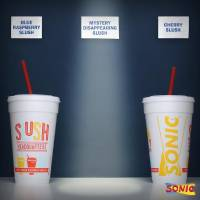 """Photo -  Sonic Drive-Ins are promoting a """"Mystery Disappearing Slush"""" that will be available at restaurants nationwide for one day only Thursday. Photo provided"""