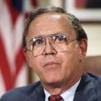 Photo -   FILE - This Dec. 16, 1986 file photo shows Sen. Warren Rudman, R-N.H. on Capitol Hill in Washington. Rudman, who co-authored a ground-breaking budget balancing law, championed ethics and led a commission that predicted the danger of homeland terrorist attacks before 9/11, has died. He was 82. (AP Photo/Ron Edmonds, File)