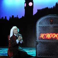 Photo - Jonathan Beck Reed as Scrooge in Lyric Theatre's performance of