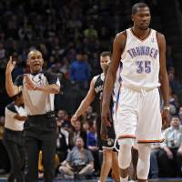 Photo -  during the NBA basketball game between the Oklahoma City Thunder and the Brooklyn Nets at the Chesapeake Energy Arena on Wednesday, Jan. 2, 2013, in Oklahoma City, Okla. Photo by Chris Landsberger, The Oklahoman