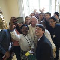 Pope tells youths to 'leave a mark\' — and avoid being couch potatoes