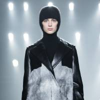 Photo - A model walks the runway during the Alexander Wang Fall 2013 fashion show during Fashion Week, Saturday, Feb. 9, 2013, in New York. (AP Photo/John Minchillo)