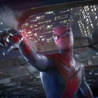 Photo - Andrew Garfield is suited up for Spidey action in a scene from