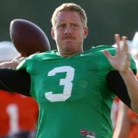 Photo - Oklahoma State quarterback Brandon Weeden has met the likes of George Steinbrenner, Matt Kemp and the Manning brothers. PHOTO BY JOHN CLANTON, THE OKLAHOMAN